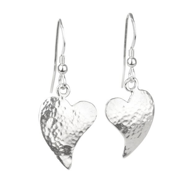 Ancient Hearts - Edle Herz Ohrhänger aus Sterling Silber - Made in England