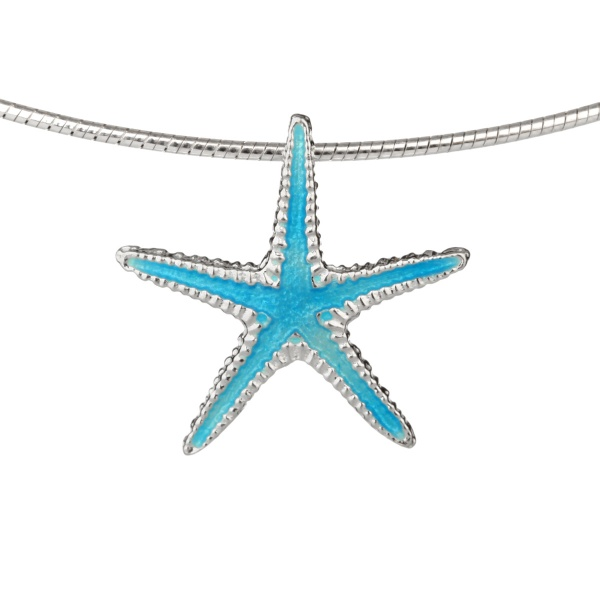 Ocean Starfish - Seestern Kette aus Sterling Silber & Emaille