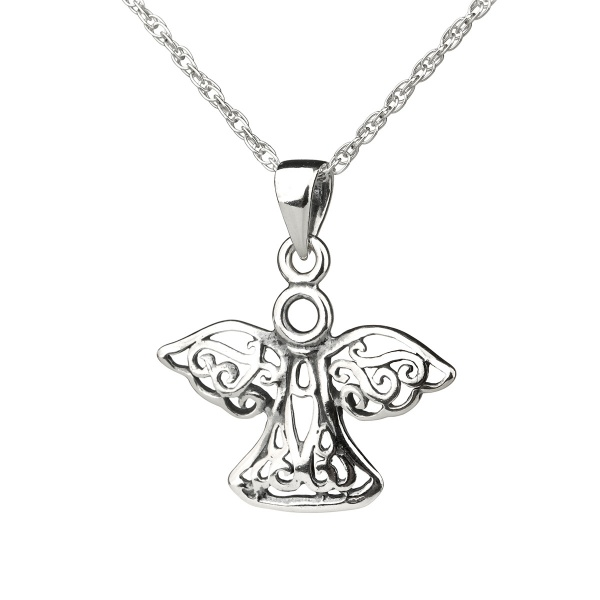 Celtic Silver Angel - Keltischer Engel aus Silber - Made in Edinburgh