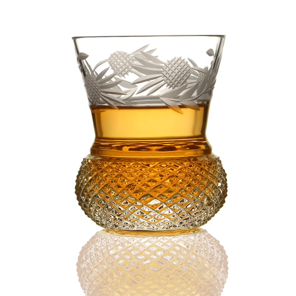 Flower of Scotland - Whiskyglas aus Schottland in Form einer Distel