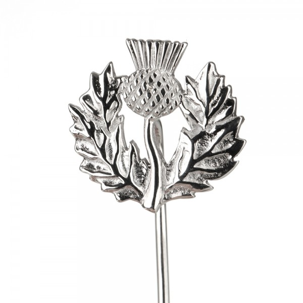 Scottish Thistle - Schottische Distel Krawattennadel aus Sterling Silber