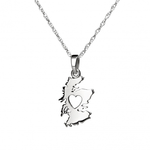 From the Heart of Scotland - Schottland Anhänger aus Sterling Silber