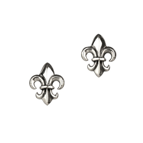 Mary Queen of Scots - Maria Stuart - Fleur De Lys Ohrstecker aus Sterling Silber