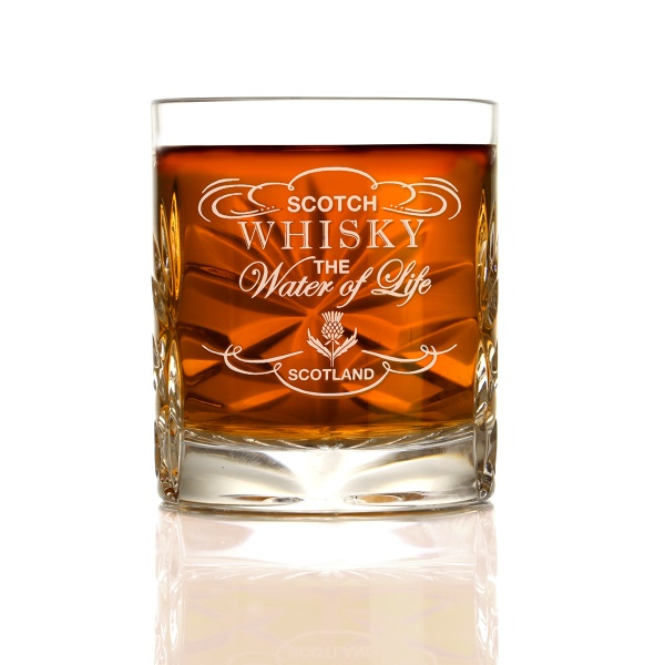 The Water of Life Dram - Kristall Whisky Shotglas aus Schottland