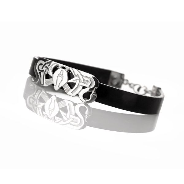 Drei Nornen Armband - Latex & Sterling Silber Made in Shetland