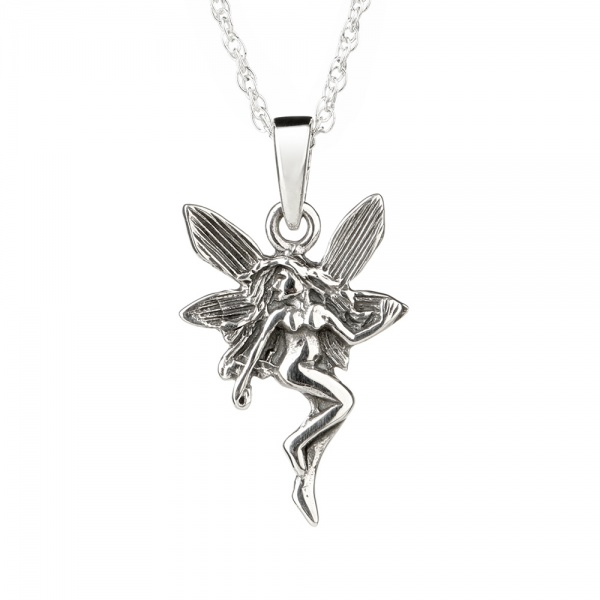 Celtic Fairy - Keltische Fee als Kette aus Sterling Silber - Made in Edinburgh