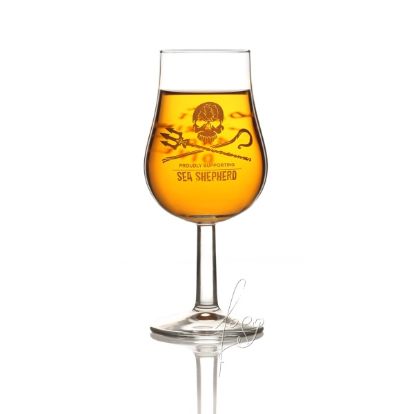 Jolly Roger Whisky Tasting Glas - Proudly Supporting Sea Sheperd