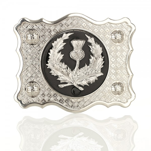 Scottish Thistle Buckle - Schottische Distel Kilt Gürtelschnalle aus Schottland