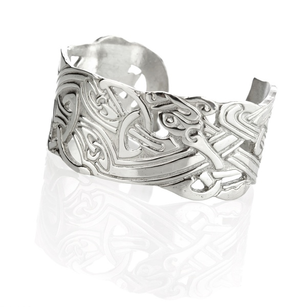 Celtic Animals Bangle - schottischer Armreif mit keltischen Zoomorphics