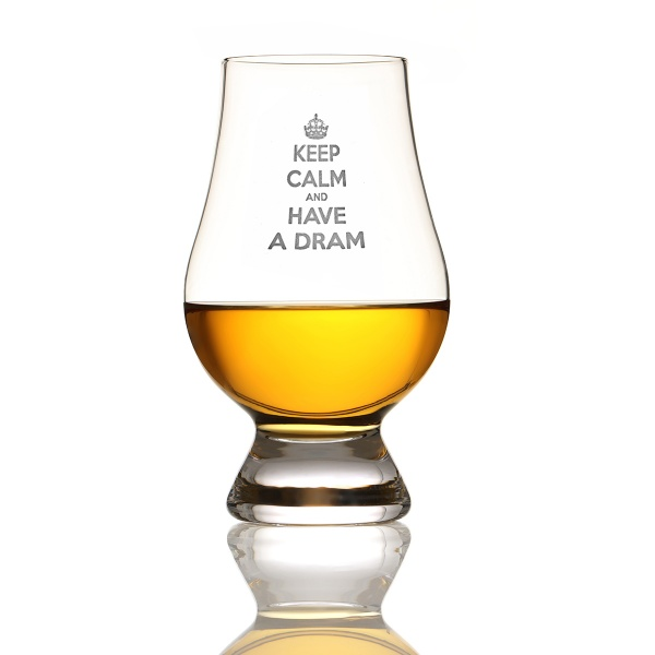 "Glencairn Whisky Glas mit Gravur "" Keep Calm and have a Dram"""