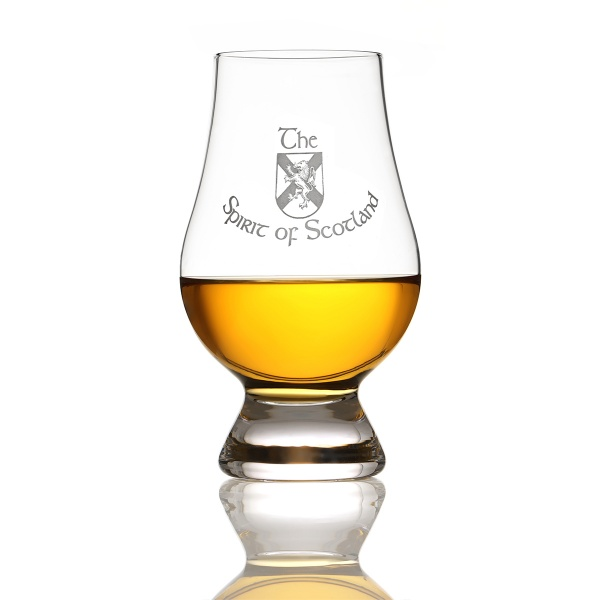 Glencairn Whisky Tasting Glas mit Gravur 'The Spirit of Scotland' - Schottisch Flagge & Löwe