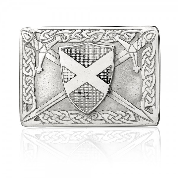 The Saltire - Schottische Flagge als Kilt Buckle - Handgefertigt & Original